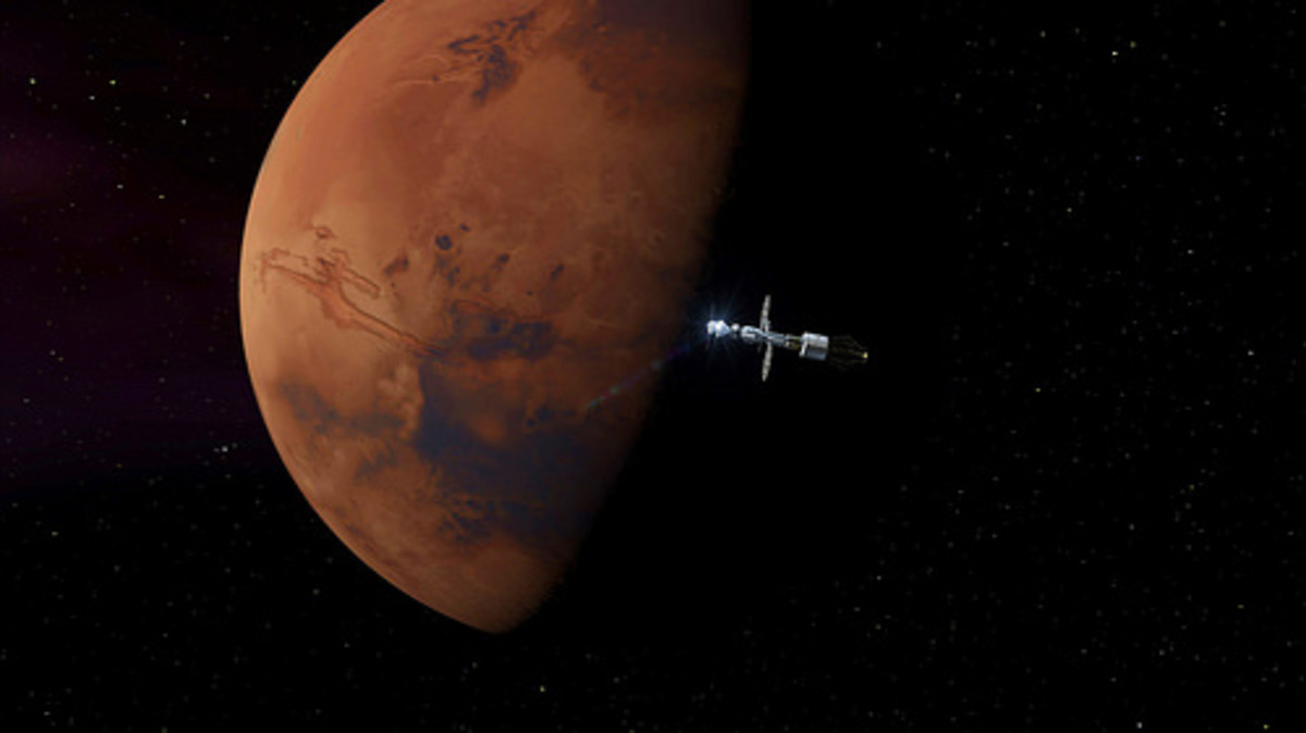 The Orion project is intended to carry a crew of four in exploring asteroids and Mars. The first manned mission is not expected before 2023.