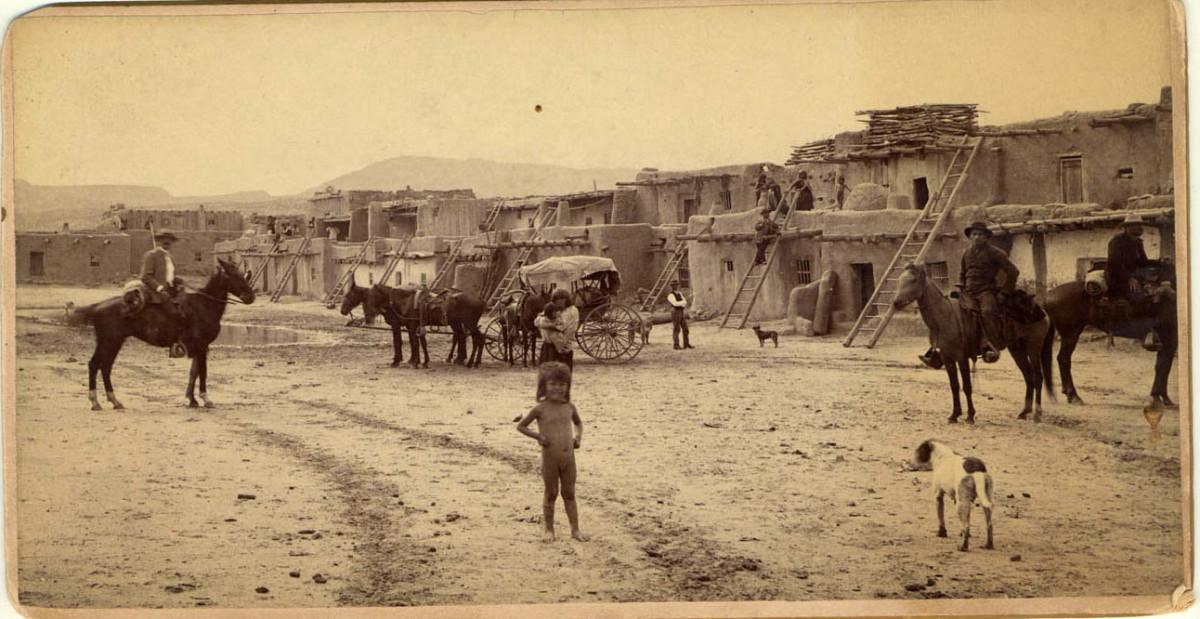 Mexican pueblo in 1850.