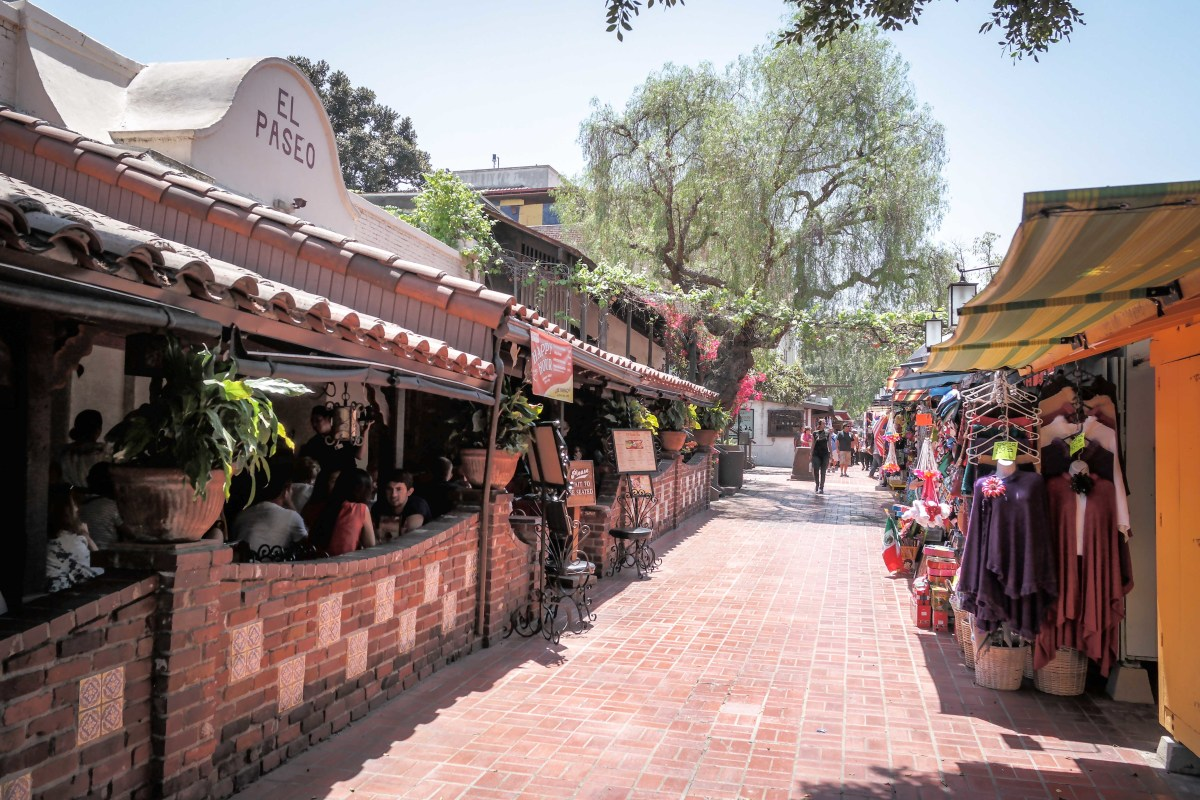 The Mexican American influences and culture that was introduced to California from its beginnings are still present today, as seen from Olvera Street in Los Angeles, California.
