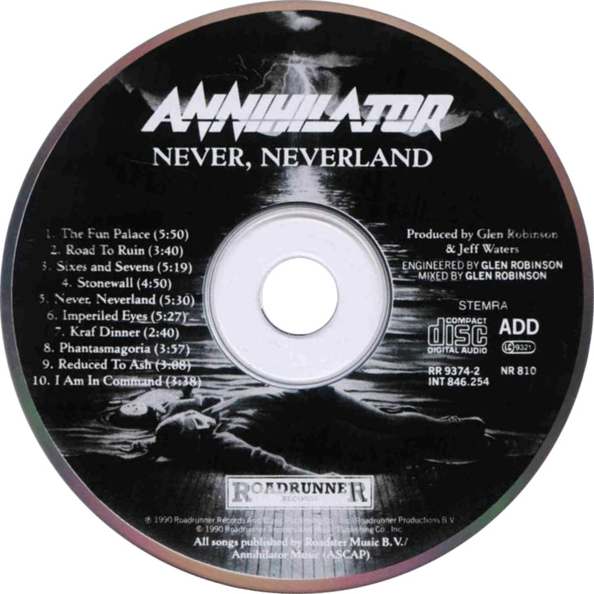 Annihilator's Never Neverland album is one of the finest in the heavy metal genre containing 10 high quality songs.