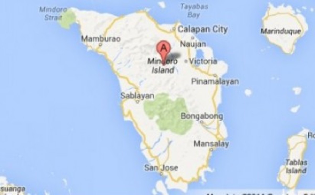 The Mindoro island on the southwestern part of Luzon