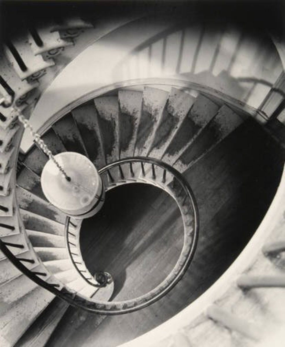 This photo typifies some of Clarence John Laughlin's architectural work, where there seems to be an unseen presence of an indescribable force.
