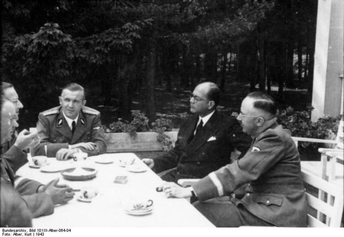 Subhas Bose With Himmler