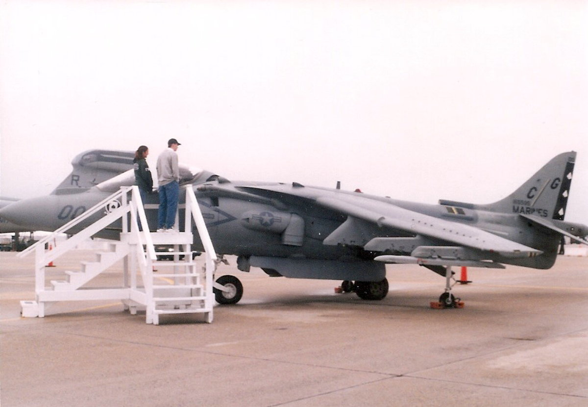 A USMC AV-8B at an Andrews AFB, Joint Service Open House.