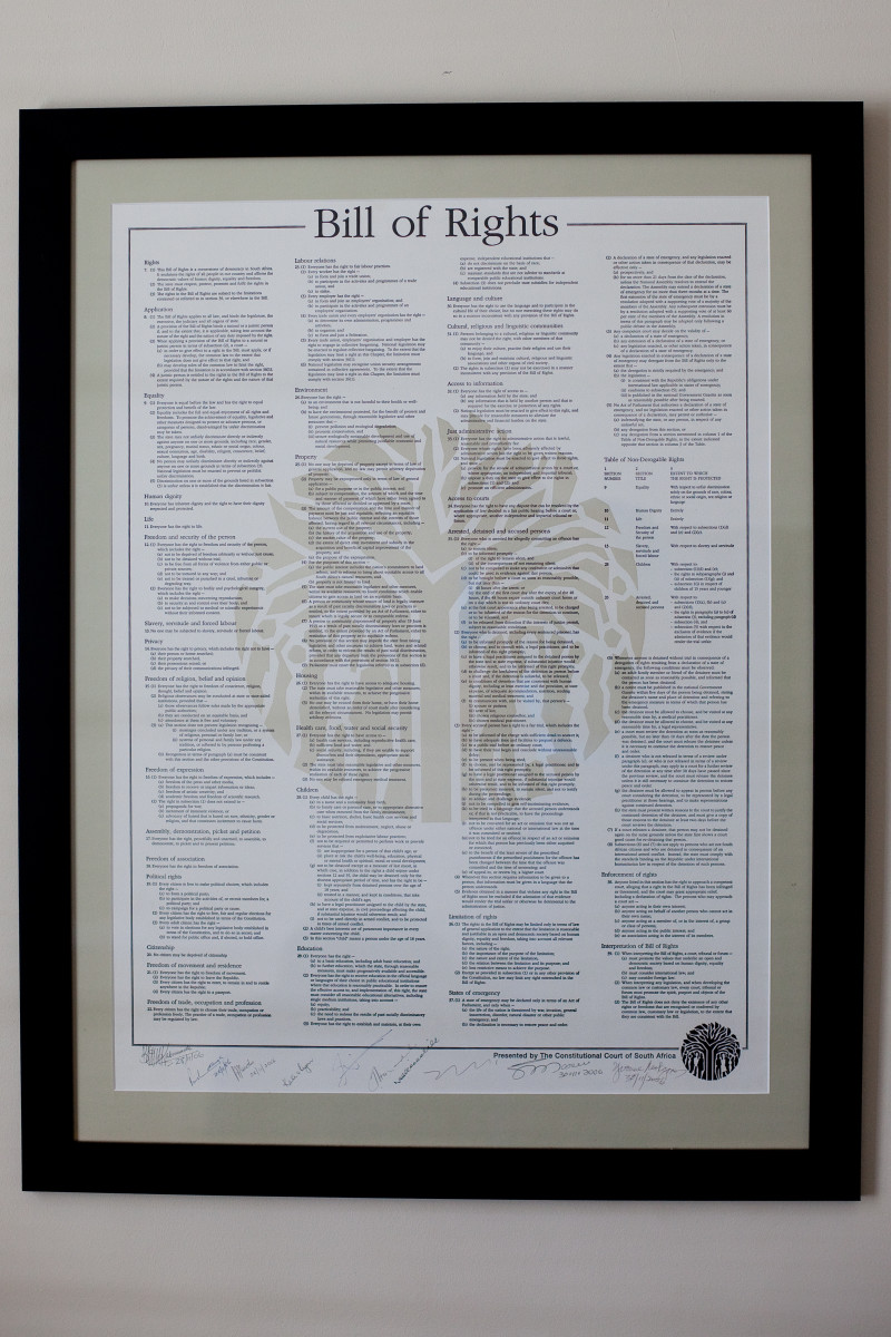 South African Bill Of Rights... 1996