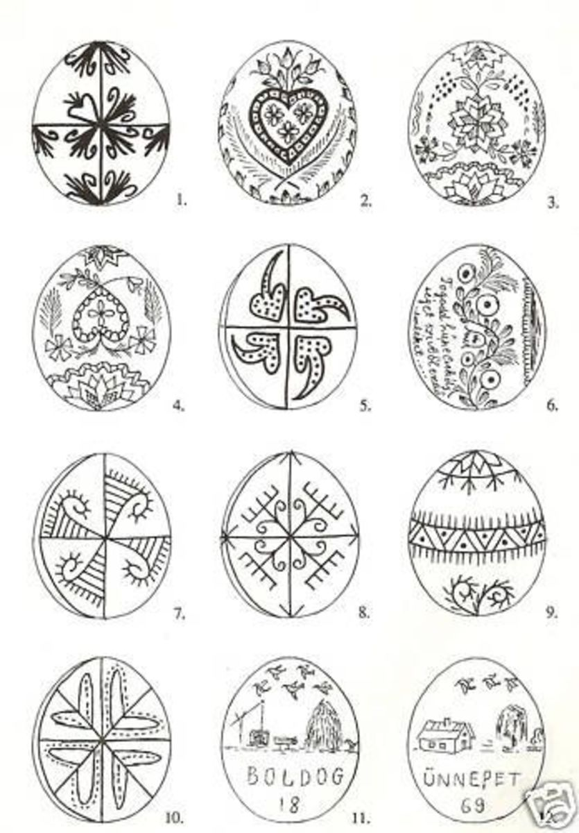 Hungarian style designs from a vintage book.