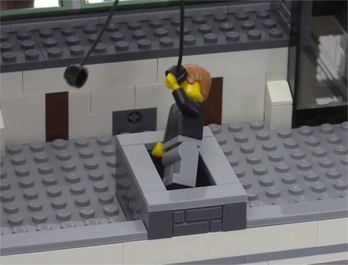 LEGO Creator Brick Bank Modular Building | An air vent.