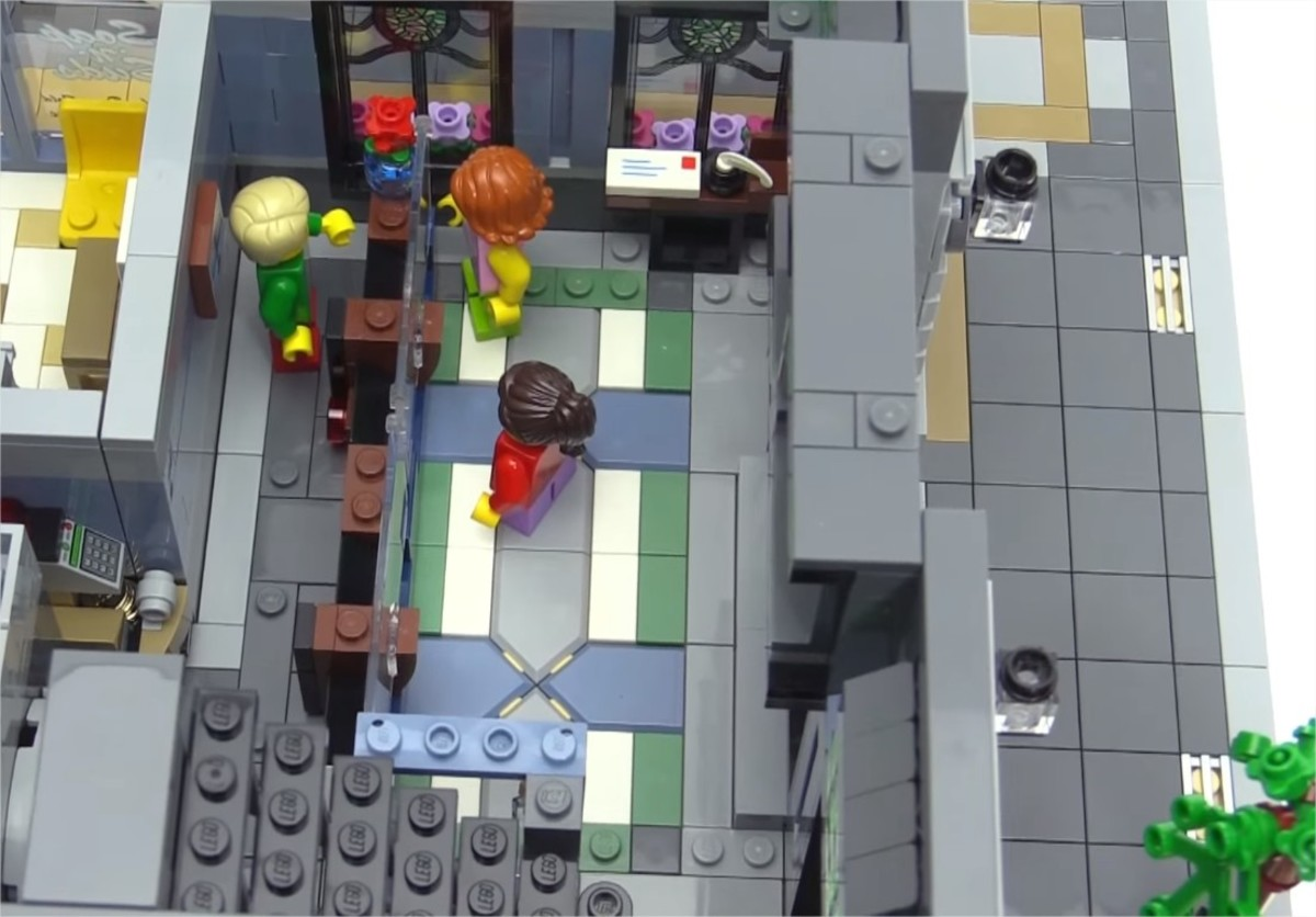 LEGO Creator Brick Bank Modular Building | The first floor.