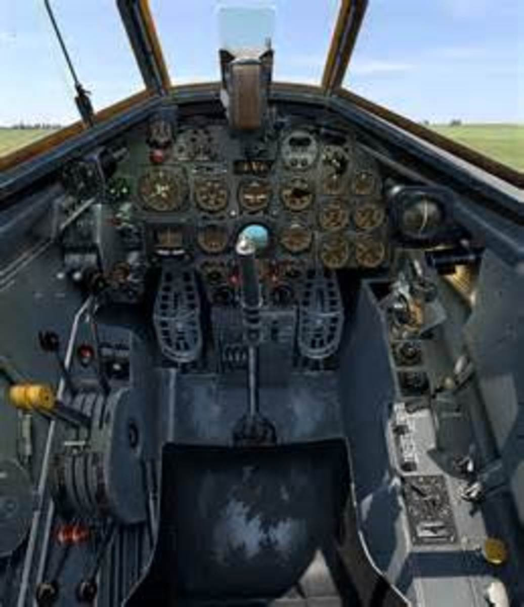 Me110 cockpit