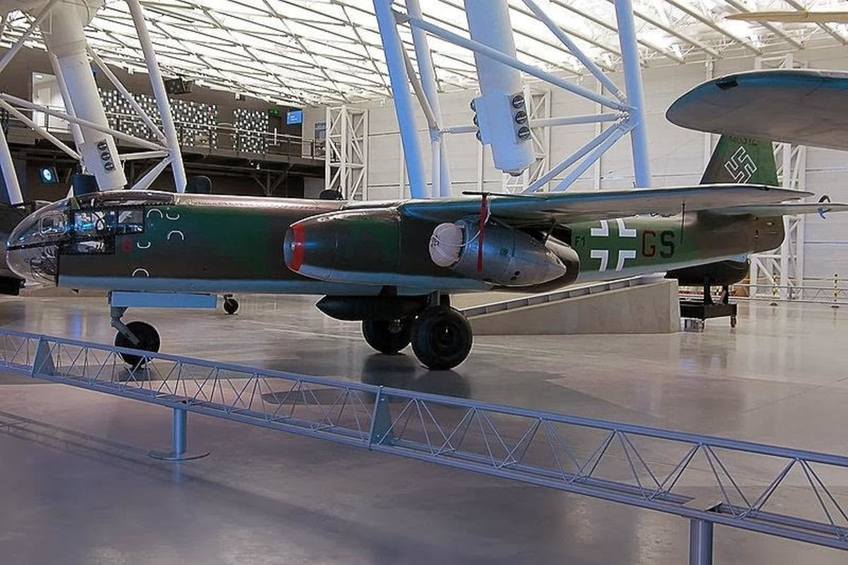 Aradoro 234B repainted back into Luftwaffe colours after a film role.