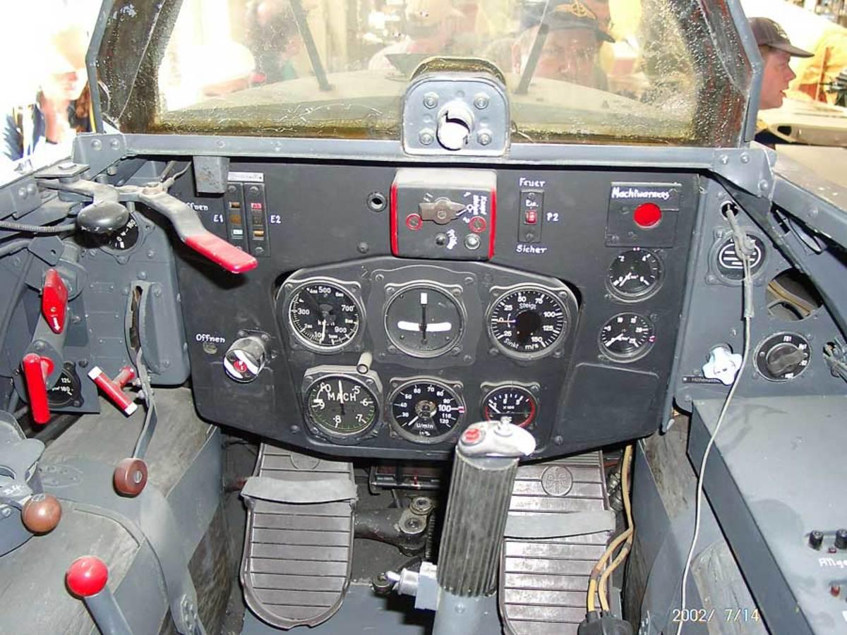 Me163 Komet cockpit