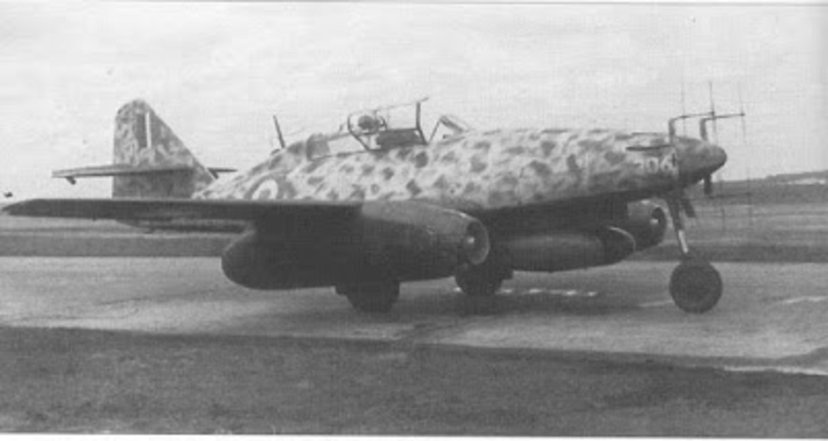 Me 262 Night Fighter in RAF colours