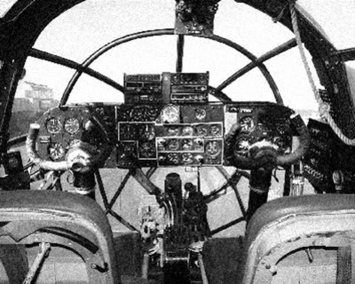 He111 cockpit