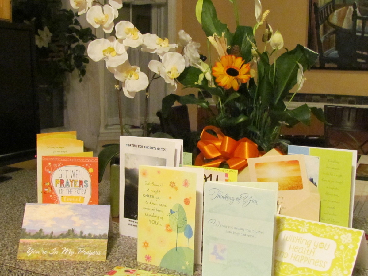 Thanks to all the Ardmore, Media and other congregations around the world who sent their prayers, cards and flowers. What a blessing it has been from Jehovah to have such loving and caring brothers and sisters during our times of illness.