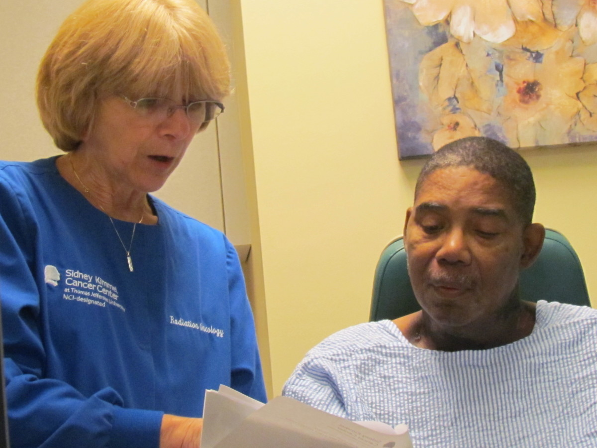 Marianne, one of the very qualified and personal nurses that took care of Walker at the Cancer Care facility of Jefferson at Riddle.