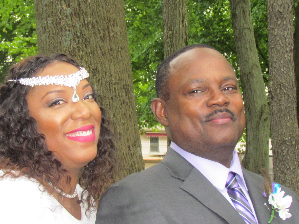 My beautiful niece Chante and her husband Steven. Chante, was there for me during my problems with a concussion. Her help and support will never be forgotten.