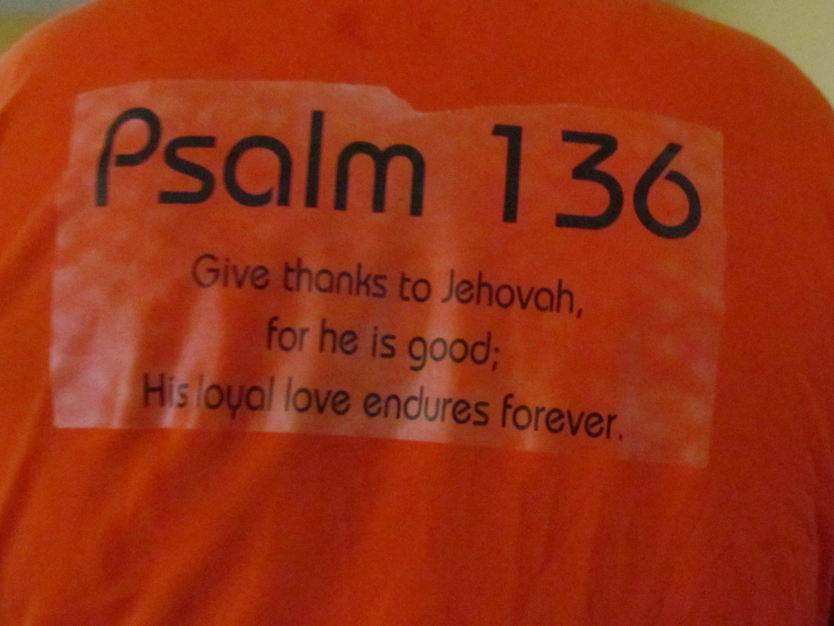 "On the back of his shirt that my daughters gave Walker to wear was the scripture Psalms 136 which states, ""Give thanks to Jehovah, for he is good; His loyal love endures forever."