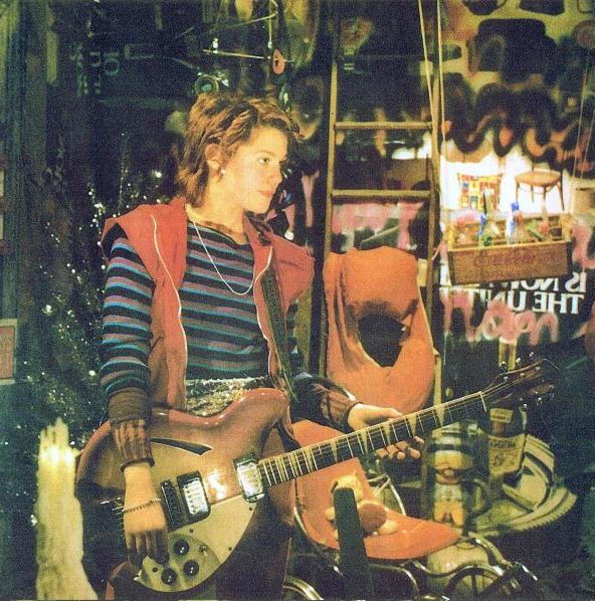 Robin Johnson in Times Square
