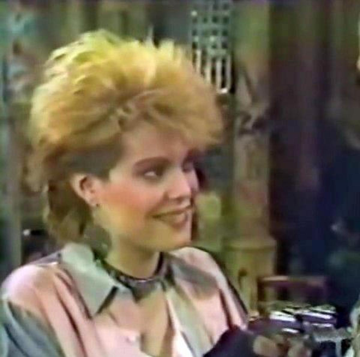 Robin Johnson as Darcy Dekker on the soap opera Guiding Light.