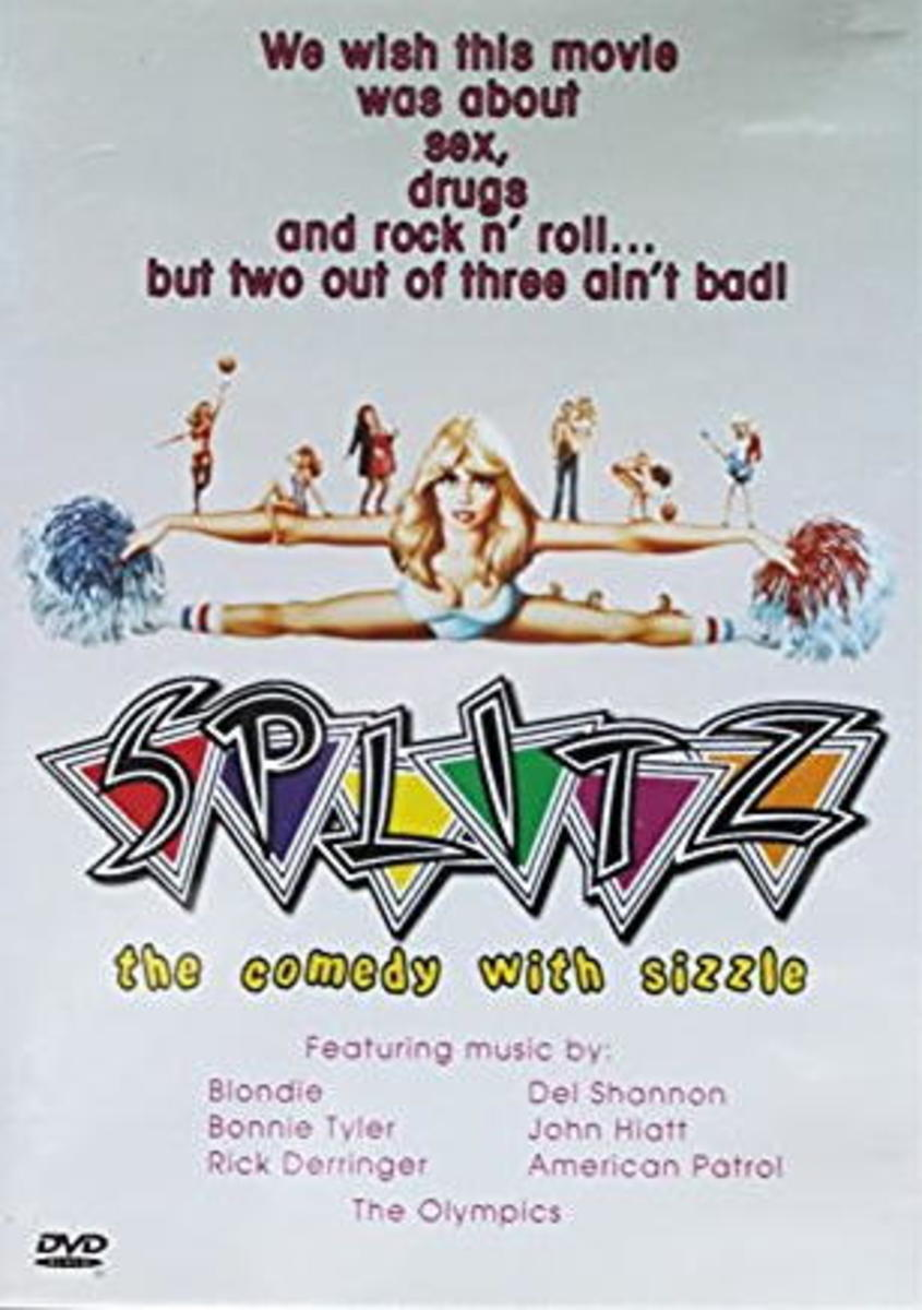 The box for the Liberty International DVD release of Splitz. It was a reworking of the Gemstone VHS box. Most likely this and the Gemstone release were unauthorized.