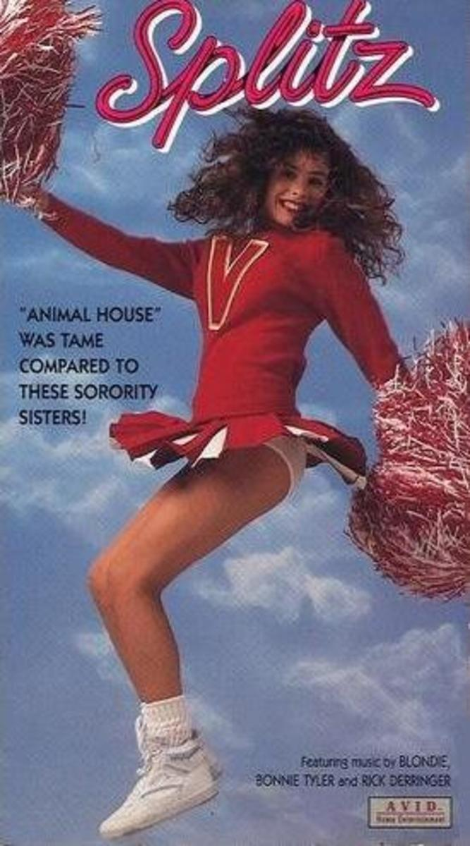 The box for the second home video release of Splitz. Notice they got rid of the original movie poster in favor of this generic picture of a cheerleader.