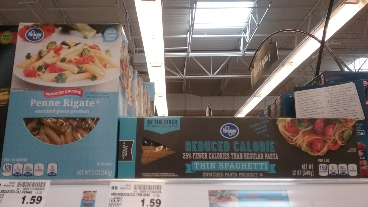 Kroger's very own brand has less calories and more fiber than most durum pastas.