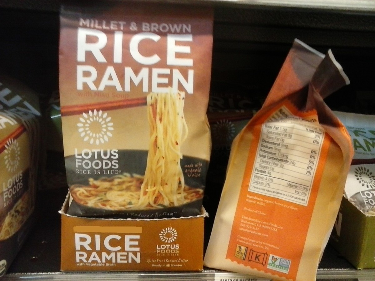 Lotus Foods makes a rice noodle ramen soup that is lower in carbs and sodium both.