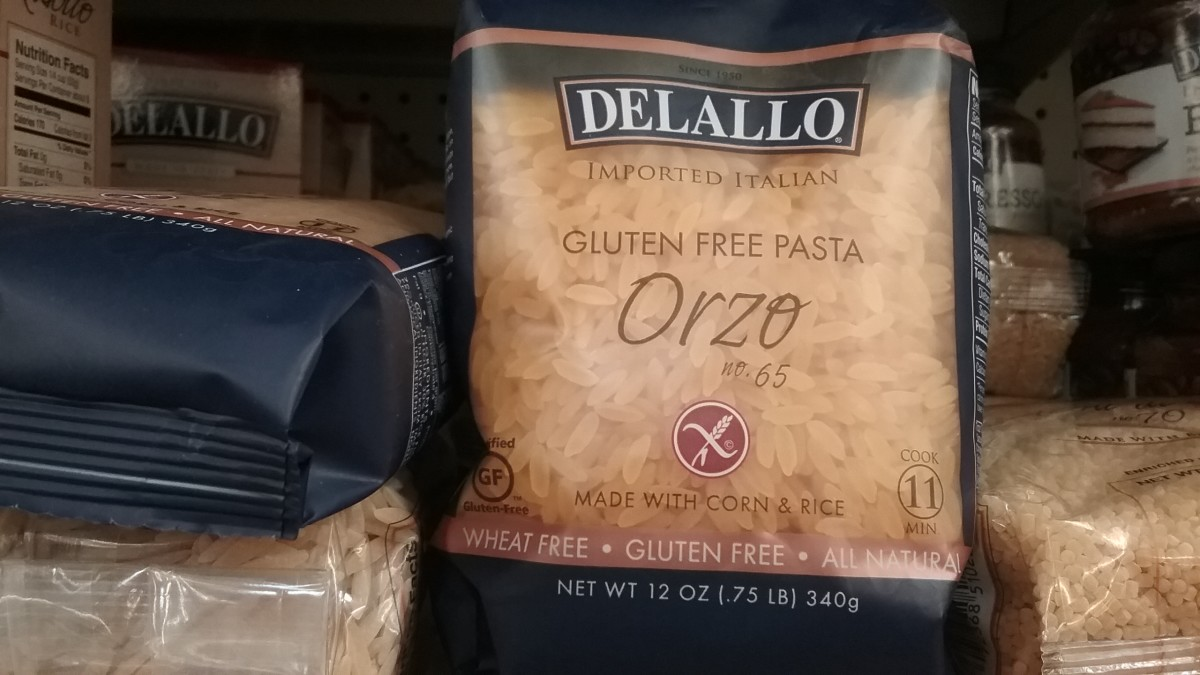 This corn-rice blend of pasta shaped like rice is gluten free.