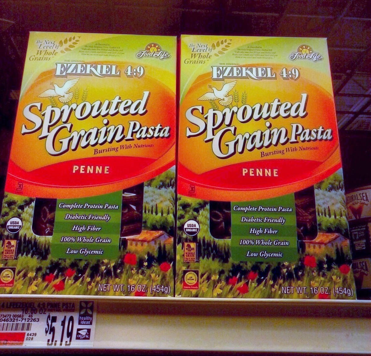 Ezekiel 4:9 sprouted pasta is lower carb and yeast free.
