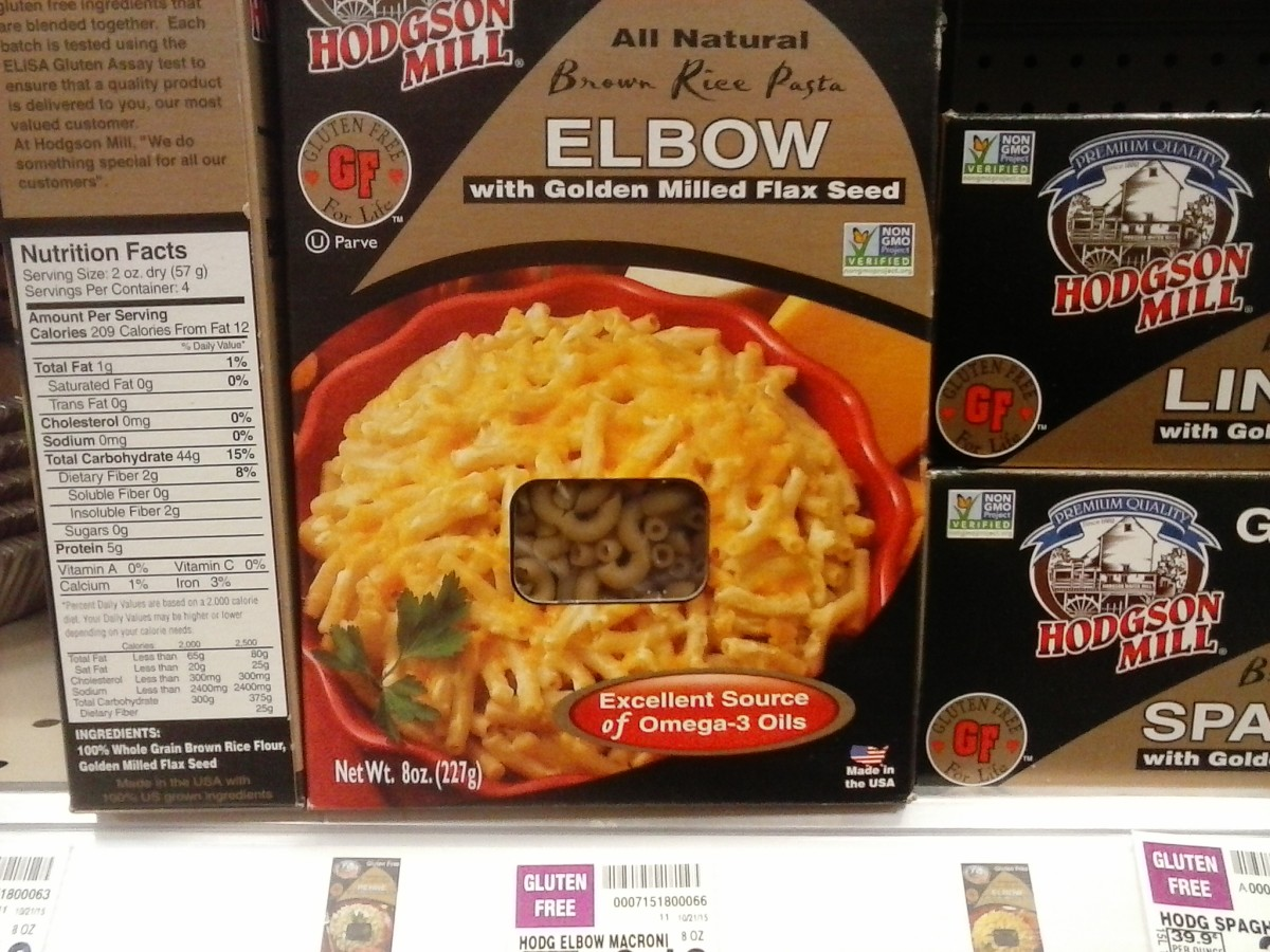 Hodgson Mill has gluten free pastas in many shapes.