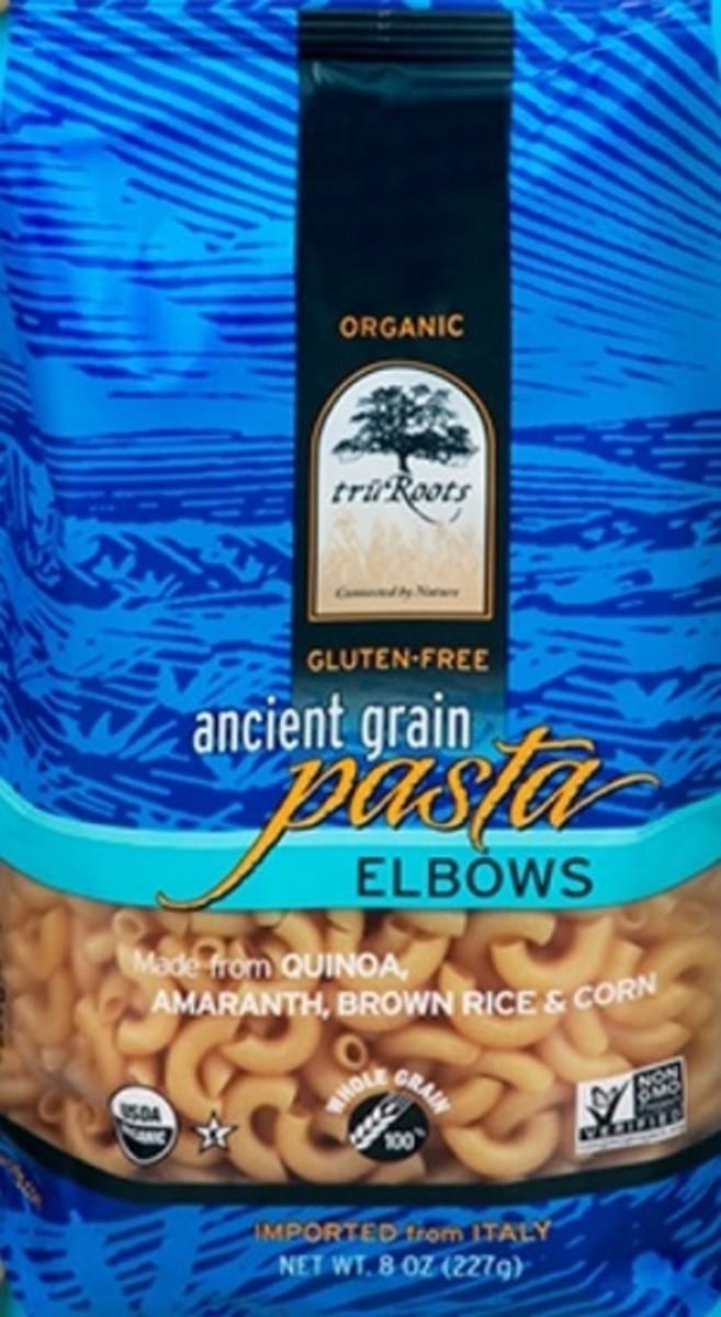 truRoots Organic, non-GMO, and Kosher pasta is also gluten free.
