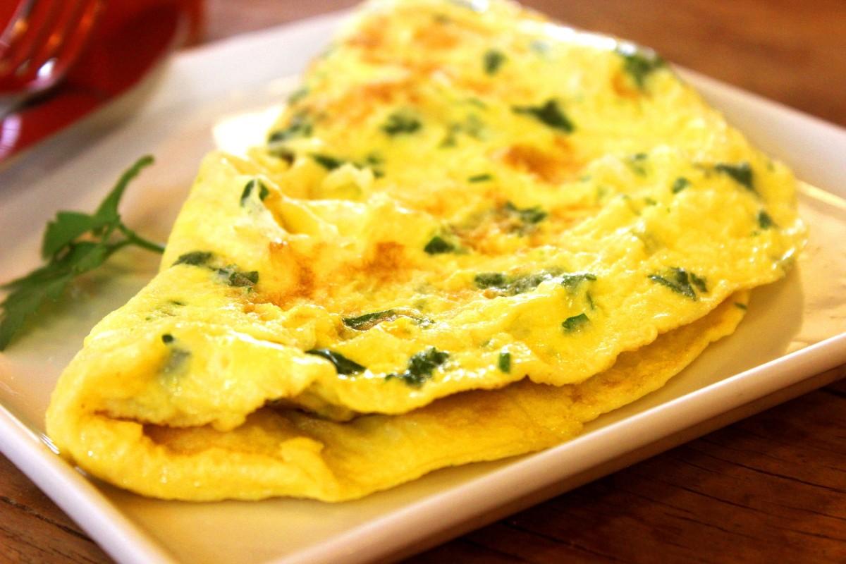 Ostrich Egg Omelette