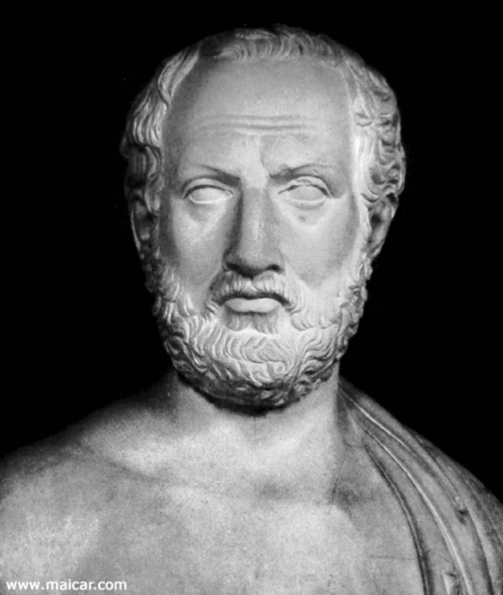 A bust of Thucydides