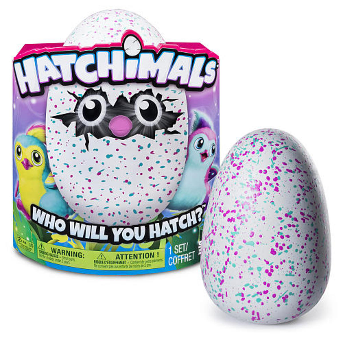 Your Hatchimal arrives as an egg ... but then something magical and amazing happens