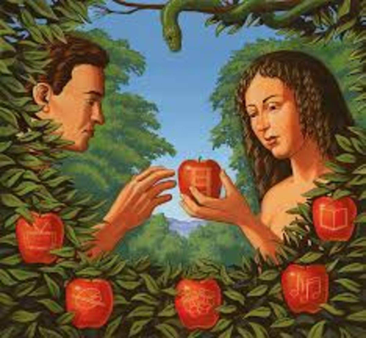 Adam & Eve is more than a story from The Bible. It could have been used for other things besides the main theme. Read my theory, it's quite interesting.
