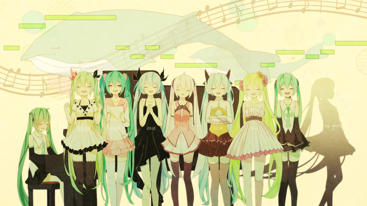 The evolution of Hatsune Miku