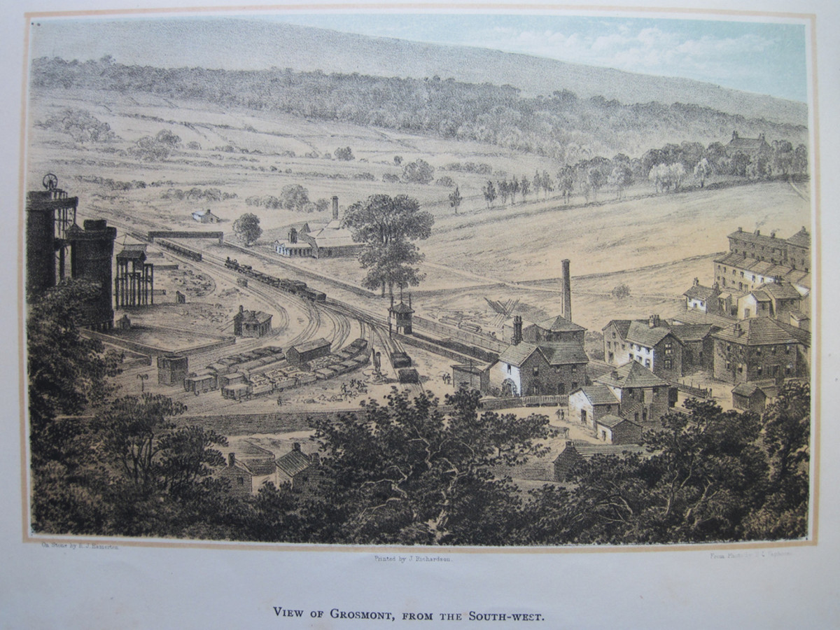Grosmont's iron works prospered until the late 19th Century when steel-making began on Teesside. The site is now a car park