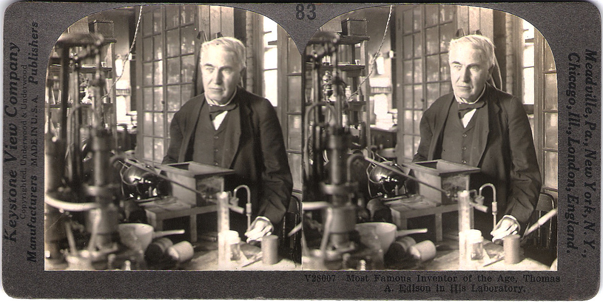 Thomas Edison--The value of this to me is extremely high, a rare piece of history, indeed.
