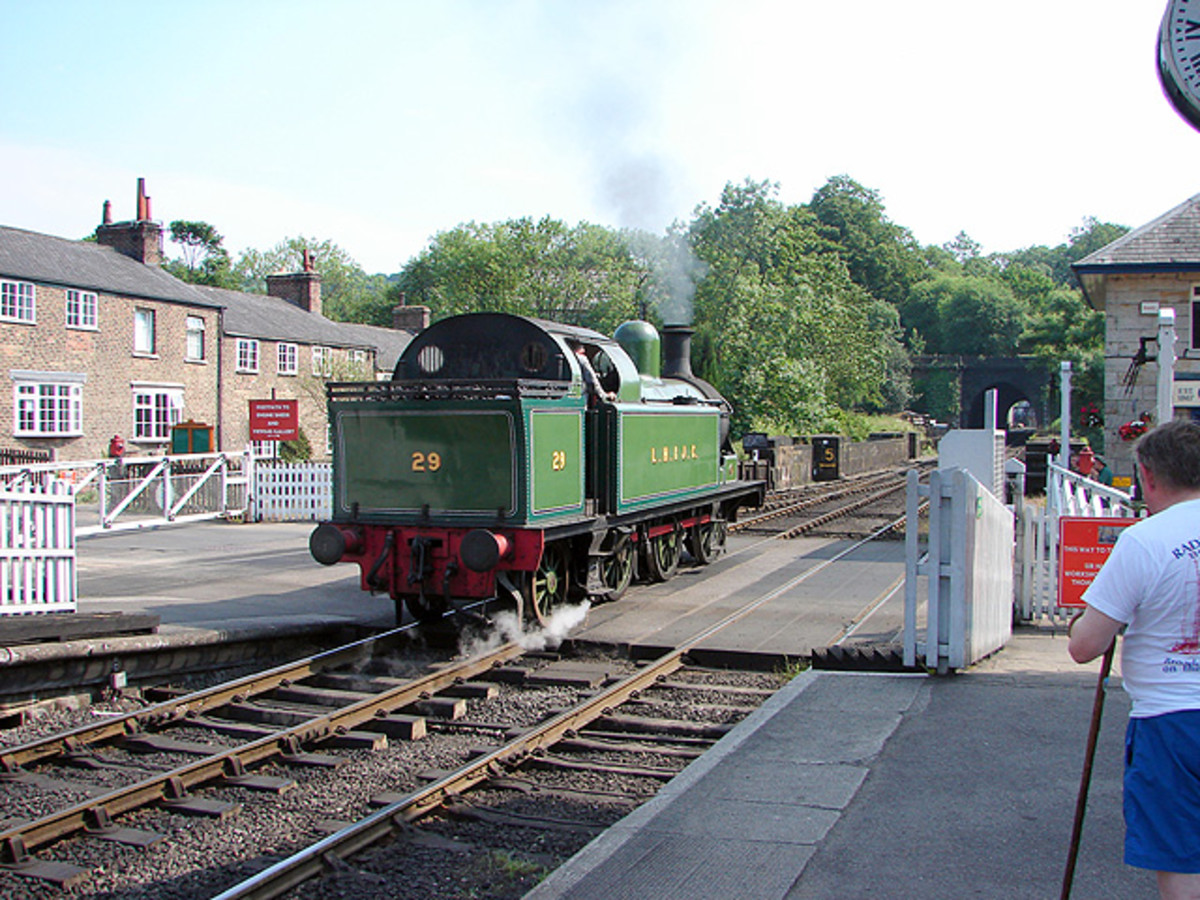 Preserved Lambton, Hetton & Joicey Railway (ex-Londonderry Railway 0-6-2, not Northern Ireland but Lord Londonderry's County Durham collieries based at Philadelphia, Durham). The engine is based here permanently, shedded at Grosmont