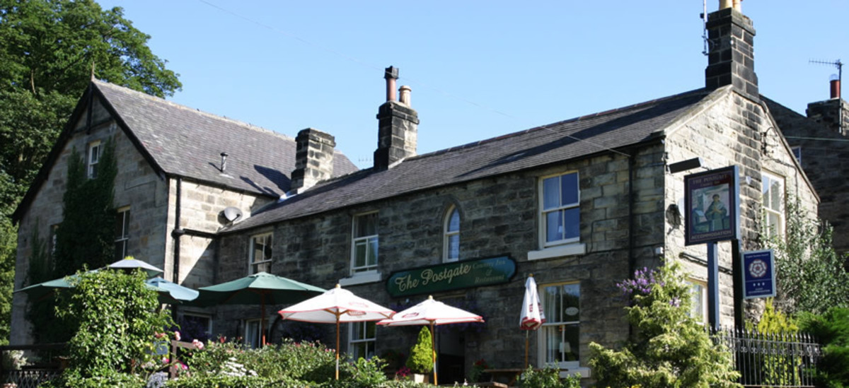 The Postgate Inn, named after local Catholic- martyr Nicholas Postgate. He fled abroad during the Reformation. Home-sickness brought him back - to a martyr's death. The inn is comfortable, carries a good menu and is known for its well-kept cellar