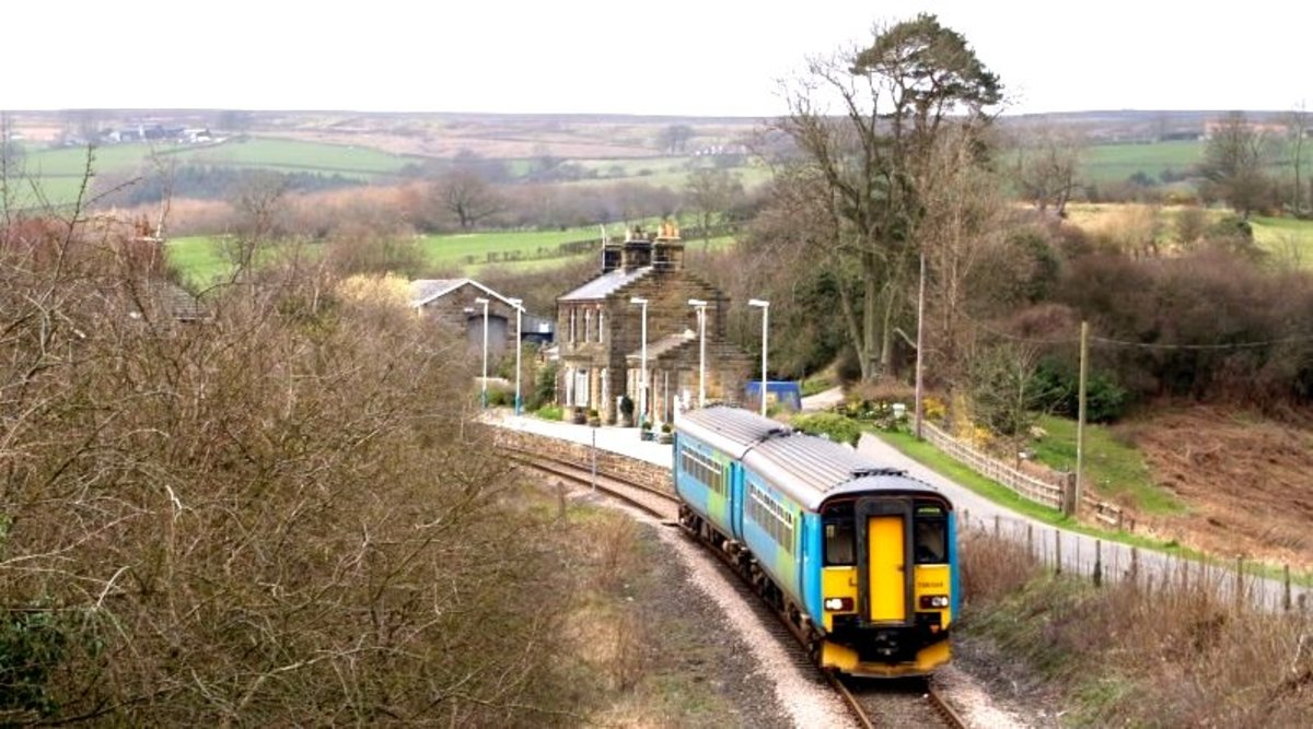 A third generation diesel multiple unit leaves Lealholm for Glaisdale, which is where we go from here...