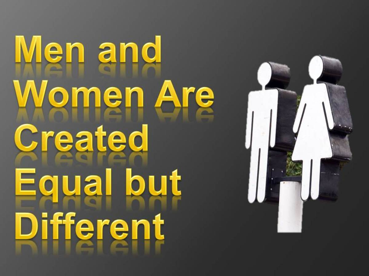 Men and Women Are Created Equal but Different
