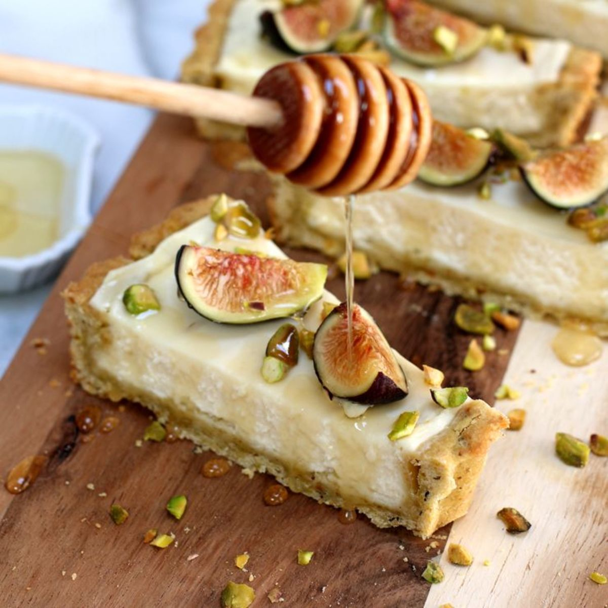 Fig Mascarpone Tart With Pistachio Crust