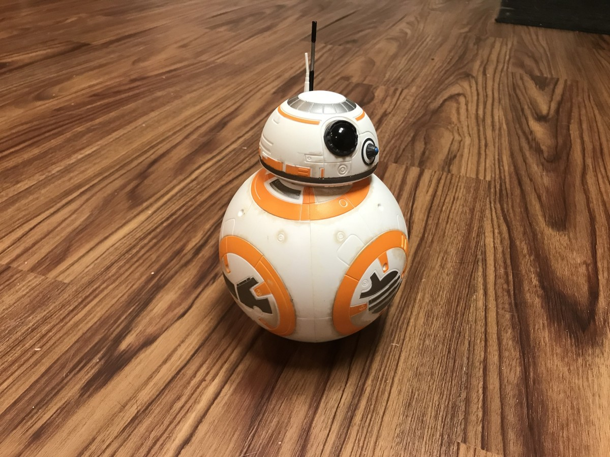 Hasbro's BB8 remote control droid has a wireless range of roughly 10 feet.
