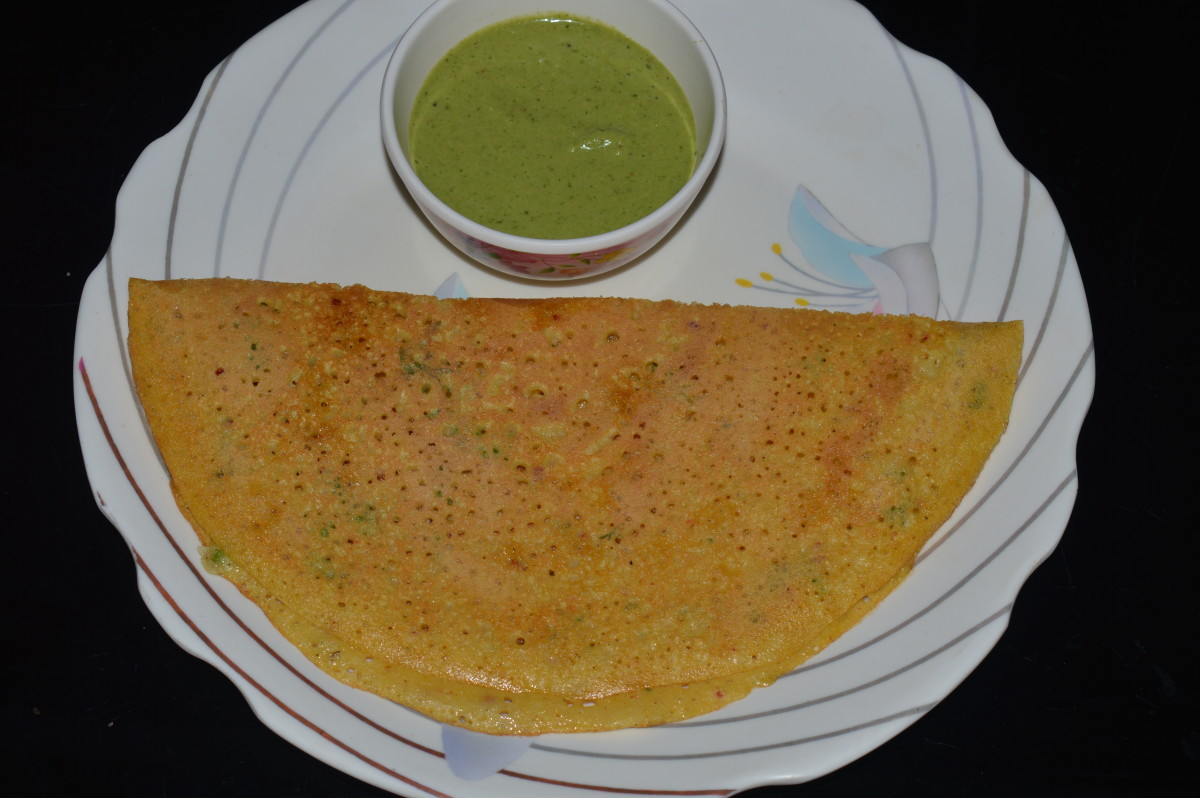 Multi-lentil and rice crepes(Adai Dosa)