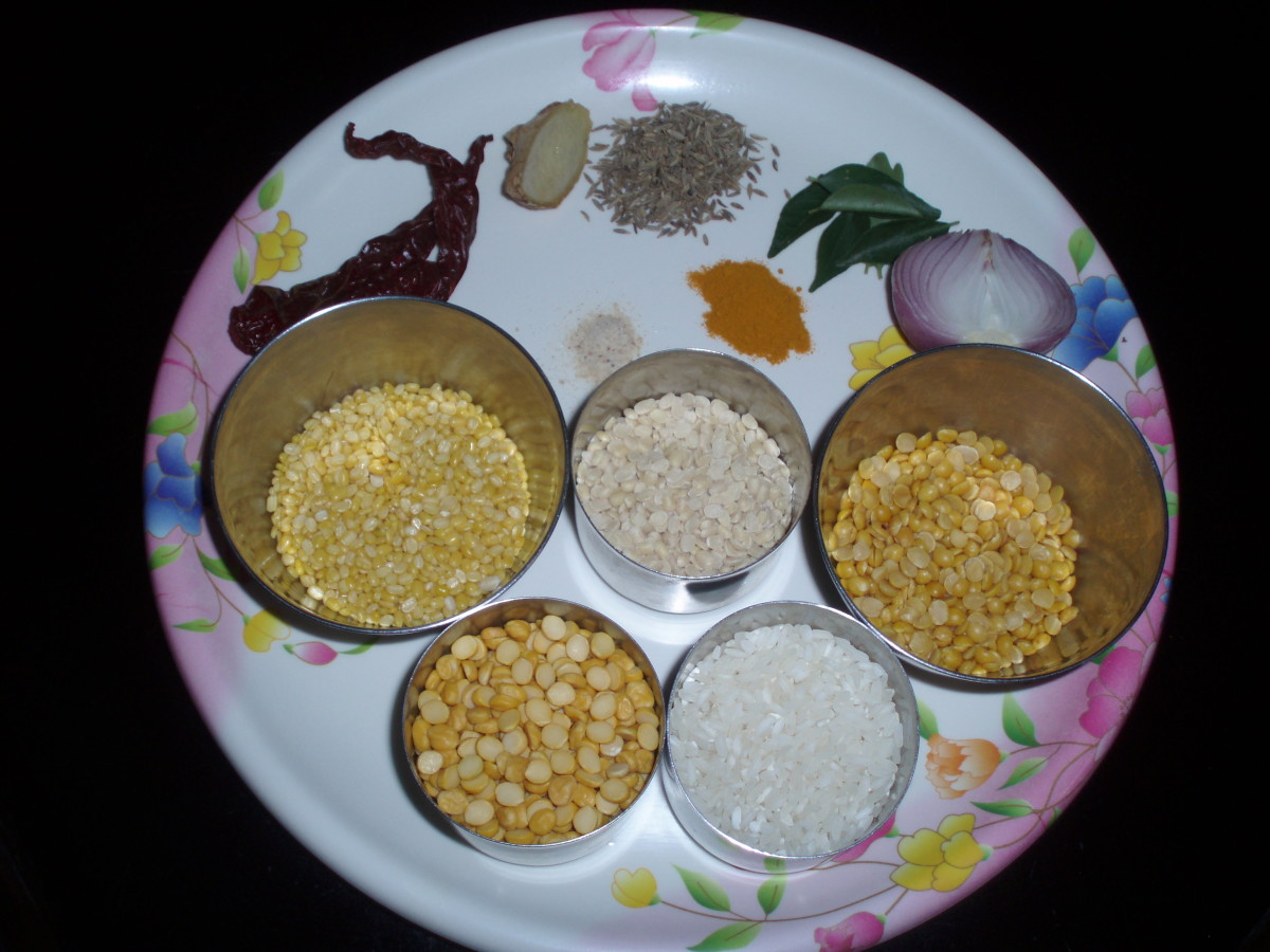 Ingredients for the batter