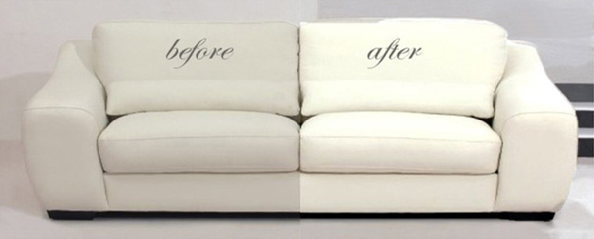 Difference that Cleaning Makes to A Sofa