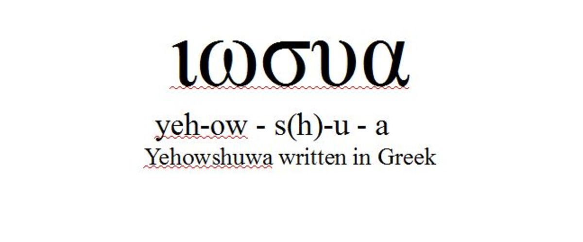 Yehowshuwa written in Greek.