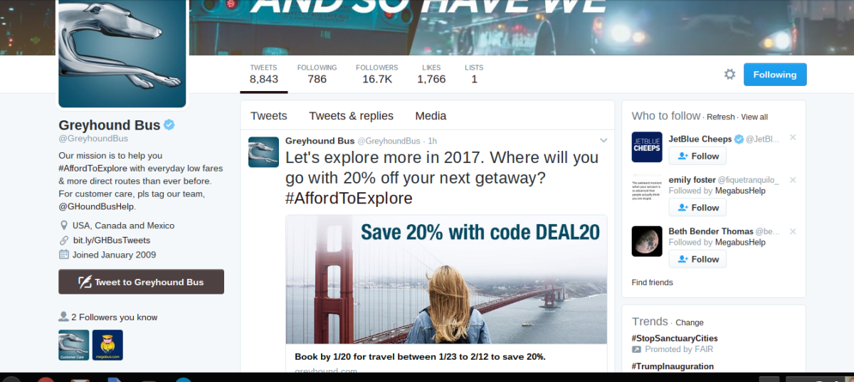 You can stay updated with the latest promo codes by following Greyhound on Twitter.