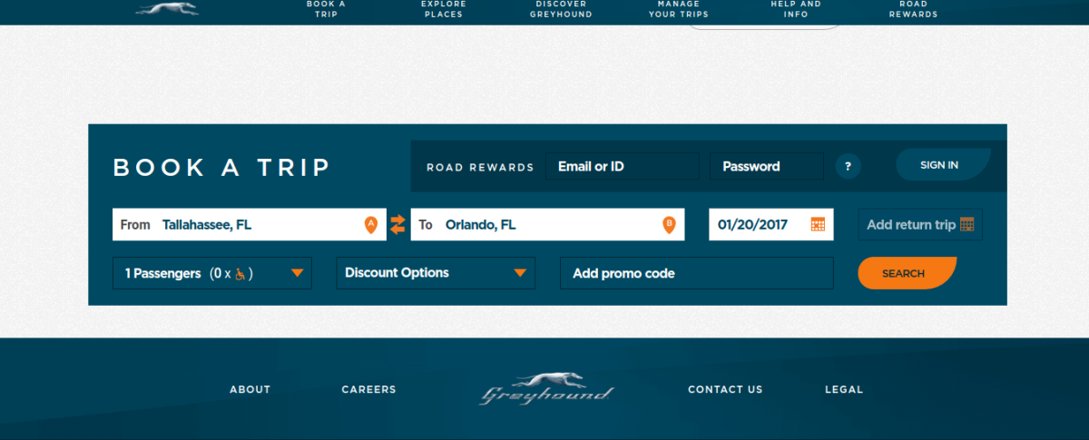 It's super easy to use your promo codes on the Greyhound website. Just fill it in and voila! - Instant savings!